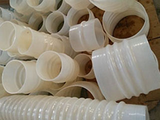 Silicone rubber soft connection